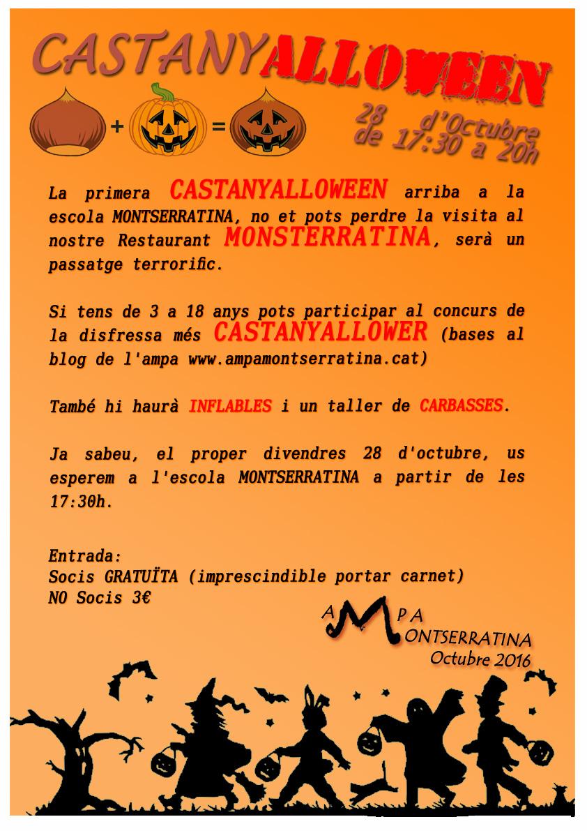 CARTEL CASTANYALLOWEEN FIESTA