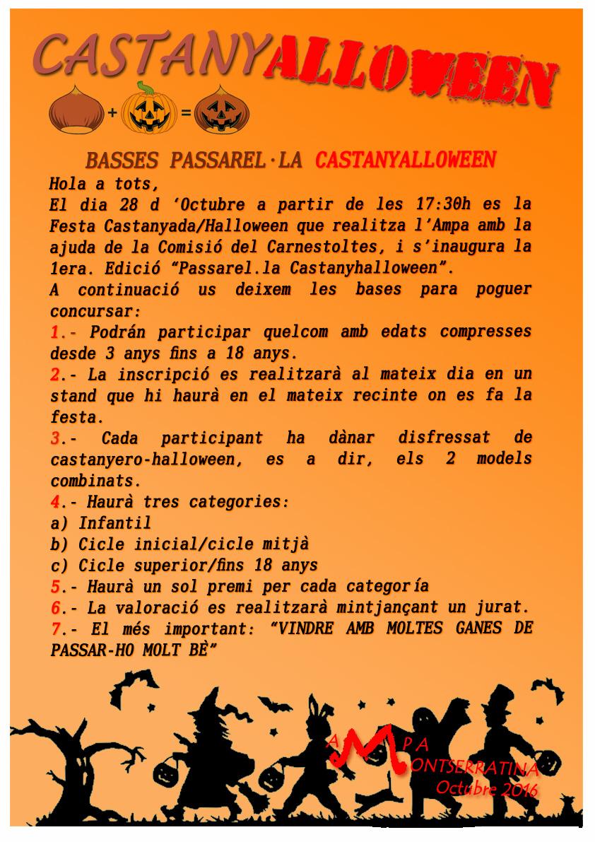 CARTEL CASTANYALLOWEEN desfille