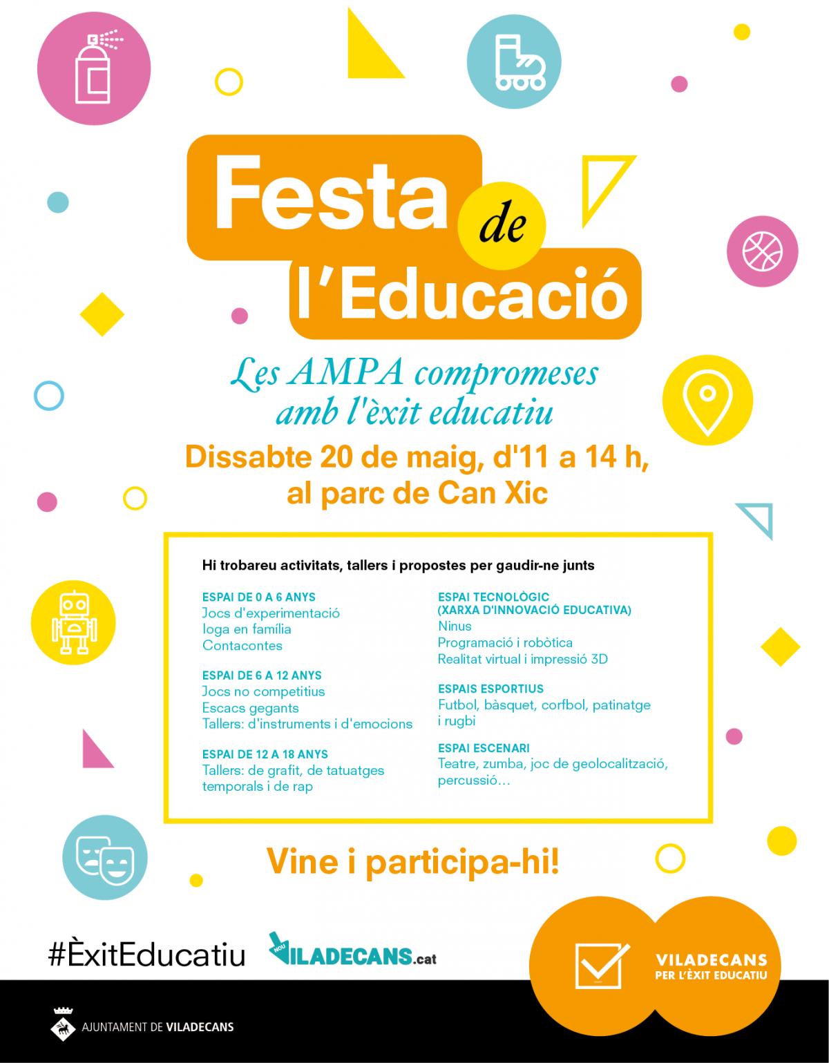 Festa de l'educació: Dissabte 20 de maig