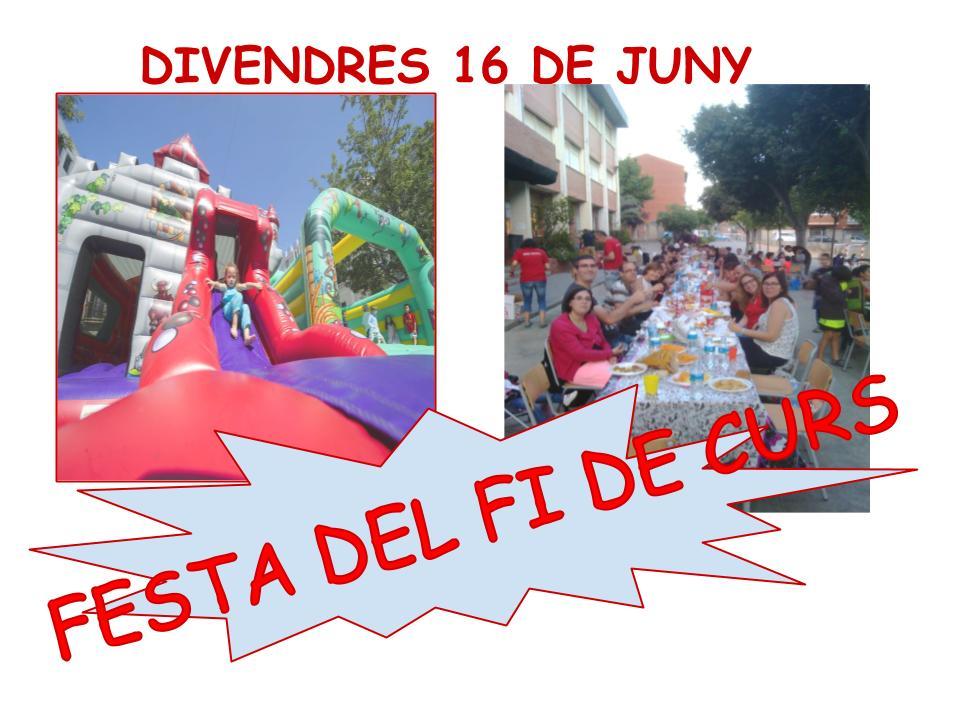 DIJOUS DARRER DIA PER RECOLLIR TIQUETS DE LA FESTA DE FI DE CURS!!!