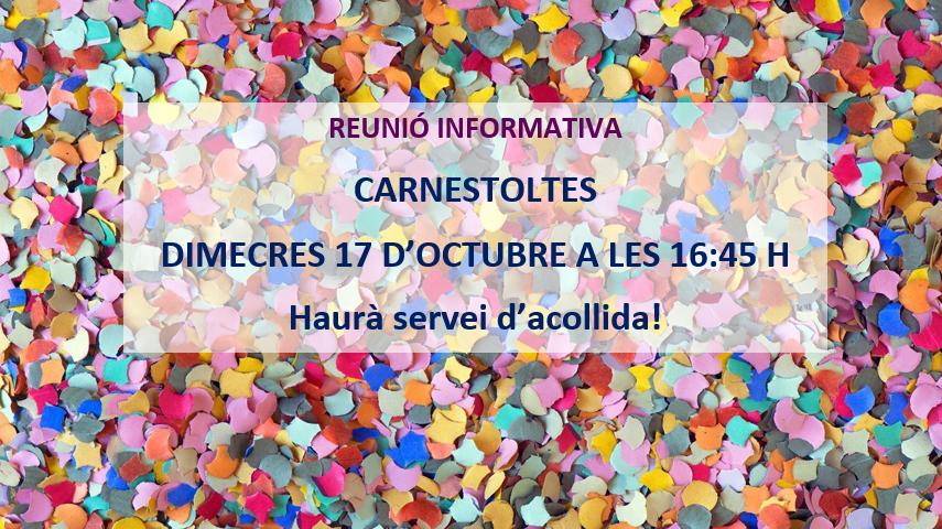 PROPERA REUNIÓ CARNESTOLTES!