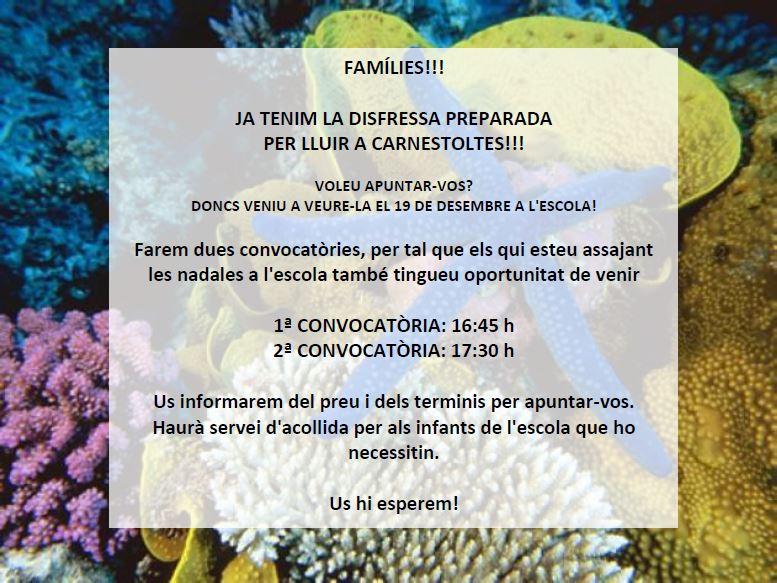 VINE A VEURE COM SERÀ LA DISFRESSA DEL PROPER CARNESTOLTES!!!